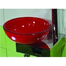 GLORIA GLASS KARE ΝΙΠΤΗΡΑΣ ΓΥΑΛΙΝΟΣ Φ31,5x11.5cm RED (24-8025)