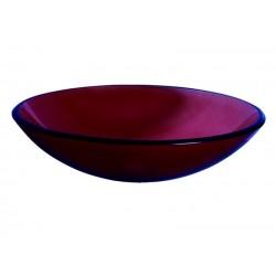 GLORIA FROSTED RED ΓΥΑΛΙΝΟΣ ΝΙΠΤΗΡΑΣ Φ42Χ14,5 ΚΟΚΚΙΝΟΣ (66-0012)