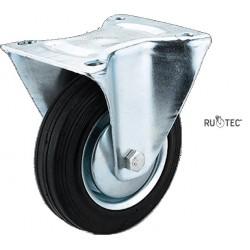 ΡΟΔΑ ΒΙΟΜΗΧΑΝΙΚΗ ΣΤΑΘΕΡΗ ΜΑΥΡΗ RUOTEC Ø200mm (502200)