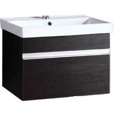 Έπιπλο μπάνιου σετ κρεμαστό ALEXIA UP / ONDA 60x46x45h WENGE (28-7115 17-2280)